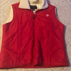 American Eagle Sherpa Lined Vest Red Women's Large
